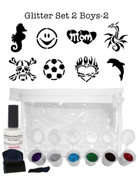 "Glitzer-Tattoo-Set ""for boys"" G2B2"