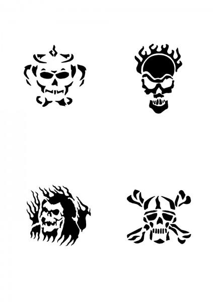 Glitzer Tattoo Schablonen Set für Kinder K03G
