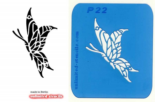 Mylar Airbrush Tattoo / Bodypainting Schablone SCHMETTERLING MP22