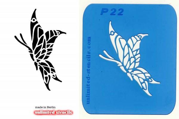 Mylar Airbrush Tattoo / Bodypainting Schablone SCHMETTERLING MP22