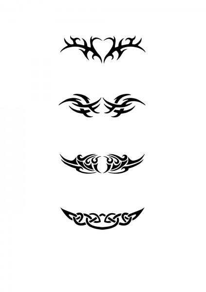 Glitzer Tattoo Schablonen Set für Kinder K24G