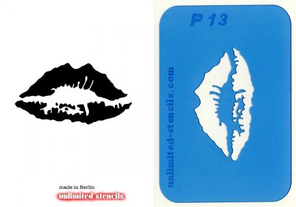 Mylar Airbrush Tattoo / Bodypainting Schablone LIPPEN MP13