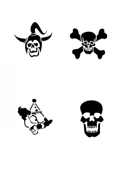 Glitzer Tattoo Schablonen Set für Kinder K05G