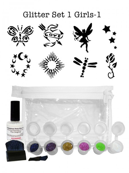 "Glitzer-Tattoo-Set ""for girls"" G1G1"