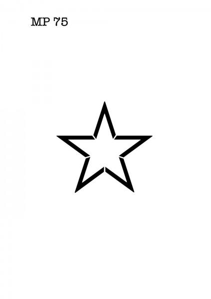 Selbstklebende Schablone für Glitzer-Tattoos oder für Airbrush