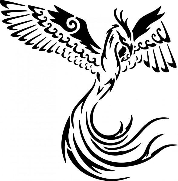 Selbstklebende Schablone für Glitzer-Tattoos oder für Airbrush-Tattoo TRIBAL DRAGONSP132