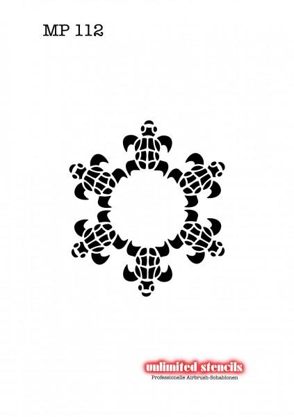 Mylar Airbrush Tattoo / Bodypainting Schablone MP112