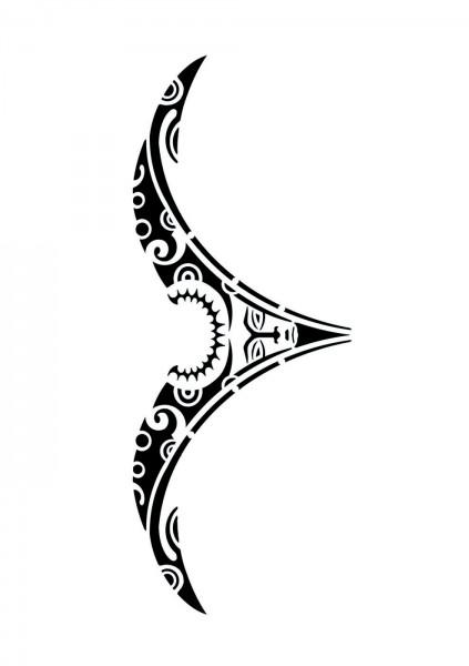 Selbstklebende XXXL-Schablone für Glitzer-Tattoos oder für Airbrush-Tattoo