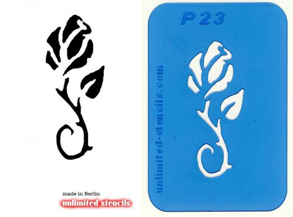 Mylar Airbrush Tattoo / Bodypainting Schablone ROSE MP23