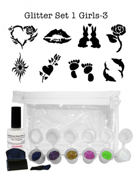 "Glitzer-Tattoo-Set ""for girls"" G1G3"