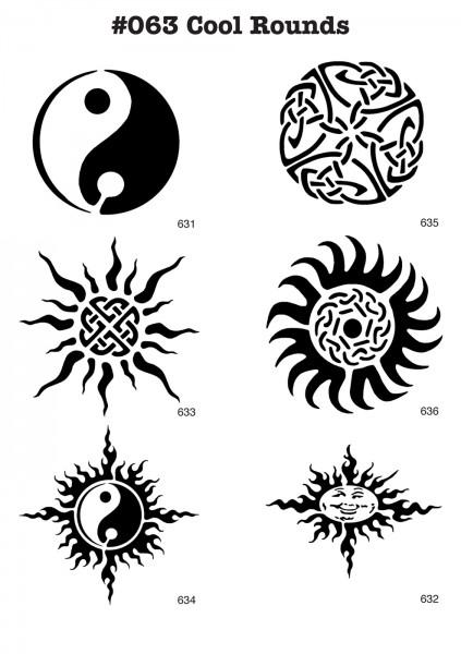 YIN-YANG, TRIBAL, SONNE, SUN