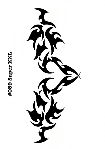 Airbrush-Tattoo-Schablone TRIBAL ARSCHGEWEIH MYLAR #089