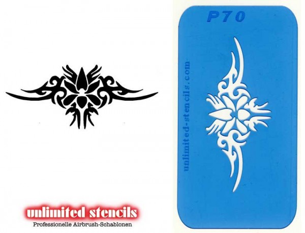 Mylar Airbrush Tattoo / Bodypainting Schablone TRIBAL MP70