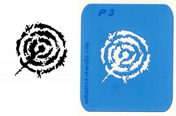 Mylar Airbrush Tattoo Schablone IBIZA MP03