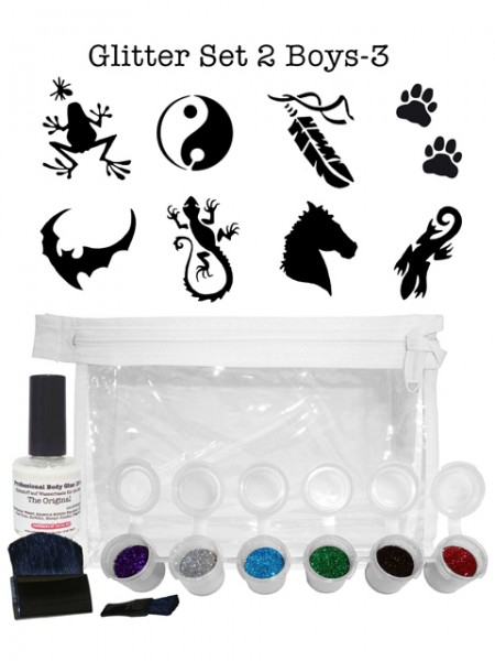 "Glitzer-Tattoo-Set ""for boys"" G2B3"
