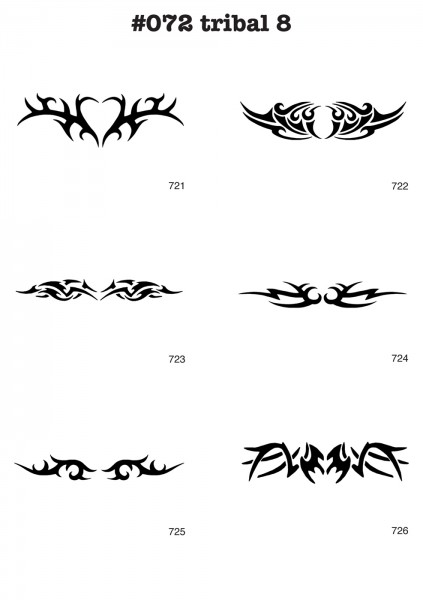 6 Airbrush-Tattoo-Schablonen MYLAR #072