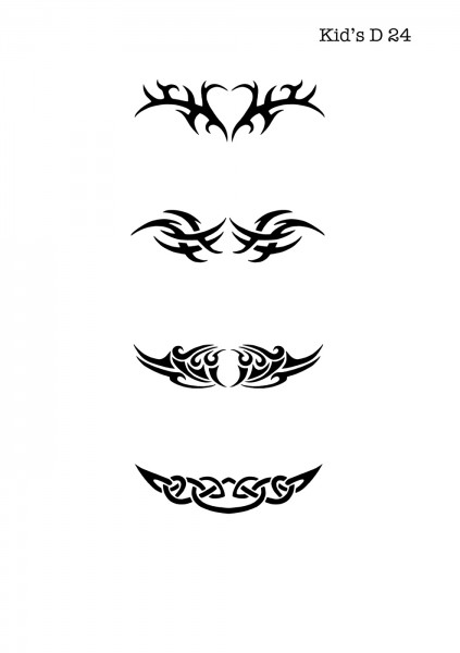 Kinder Airbrush Tattoo Schablone TRIBAL
