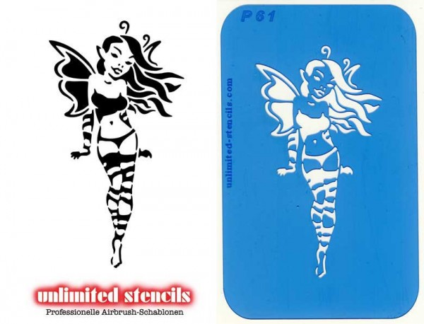 Mylar Airbrush Tattoo / Bodypainting Schablone XL FEE MP61