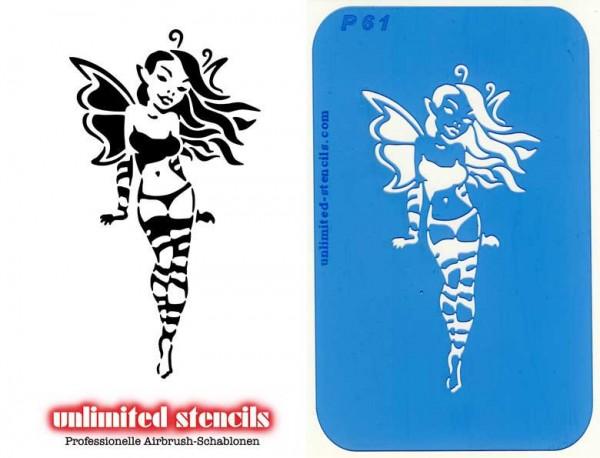 Mylar Airbrush Tattoo / Bodypainting Schablone XL FEE MP61