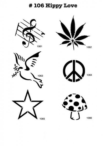 GANJA, WEED, MUSIKNOTE, PEACE, FLIEGENPILZ