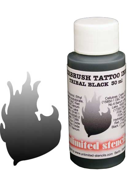 Airbrush Tattoo Ink black 30ml