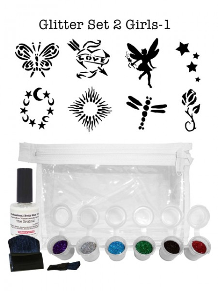 "Glitzer-Tattoo-Set ""for girls"" G2G1"
