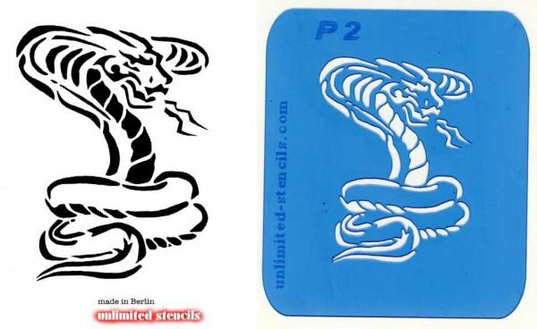 Mylar Airbrush Tattoo Schablone KOBRA MP02