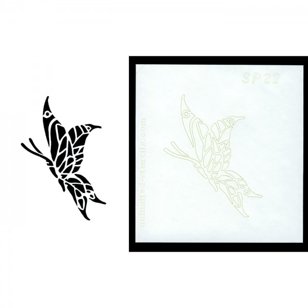 Selbstklebende Schablone für Glitzer-Tattoos oder für Airbrush-Tattoo