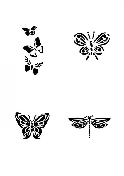 Glitzer Tattoo Schablonen Set für Kinder K07G