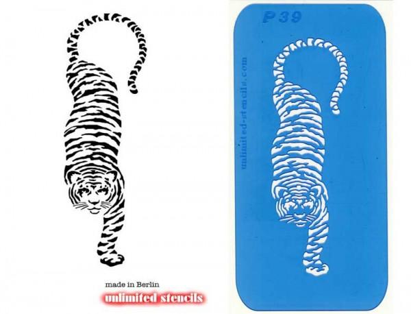 Mylar Airbrush Tattoo / Bodypainting Schablone XL TIGER MP39