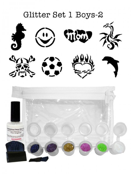 "Glitzer-Tattoo-Set ""for boys"" G1B2"