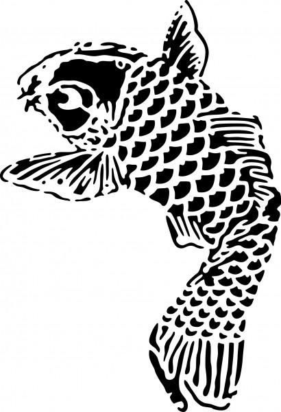 Selbstklebende Schablone für Glitzer-Tattoos oder für Airbrush-Tattoo KOI SP150