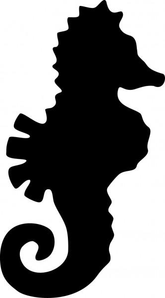 Selbstklebende Schablone für Glitzer-Tattoos oder für Airbrush-Tattoo SEEPFERDCHEN, SP114