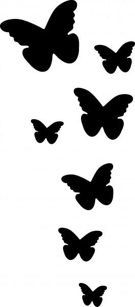 Selbstklebende Schablone für Glitzer-Tattoos oder für Airbrush SCHMETTERLINGE SP 135