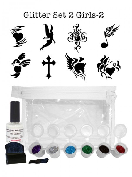 "Glitzer-Tattoo-Set ""for girls"" G2G2"