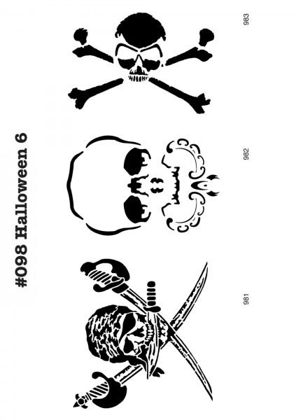 6 Airbrush-Tattoo-Schablonen MYLAR #098