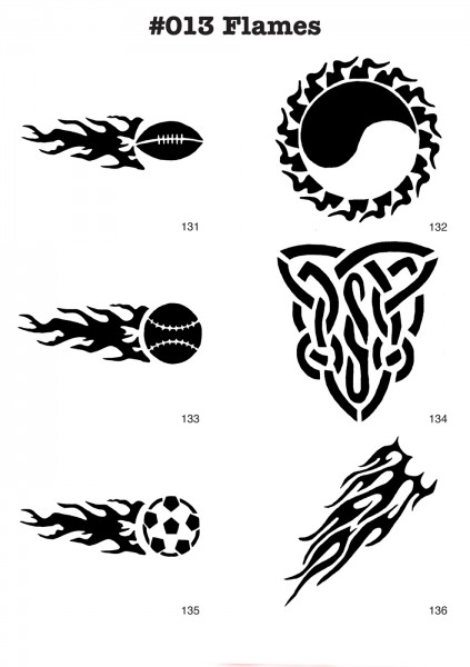 FUSSBALL, FLAMMEN, TRIBAL