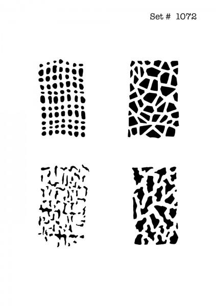 UNLIMITED STENCILS 4 selbstklebende DURA-LAR Airbrush Tattoo-Schablonen D1072