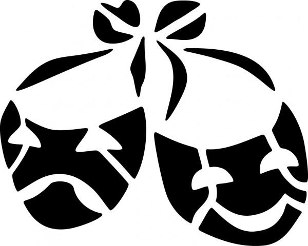 Selbstklebende Schablone für Glitzer-Tattoos oder für Airbrush MASKEN, SP105
