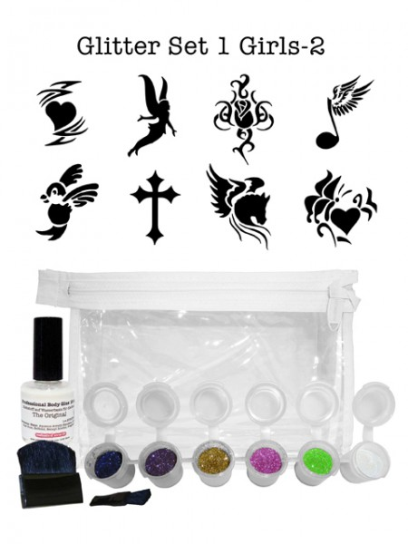 "Glitzer-Tattoo-Set ""for girls"" G1G2"