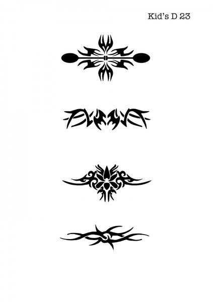 Kinder Airbrush Tattoo Schablone TRIBAL