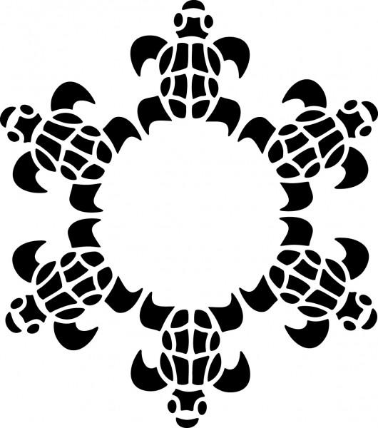 Selbstklebende Schablone für Glitzer-Tattoos oder für Airbrush SCHILDKRÖTEN, SP112