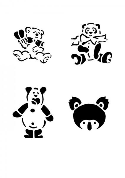 Glitzer Tattoo Schablonen Set für Kinder K29G