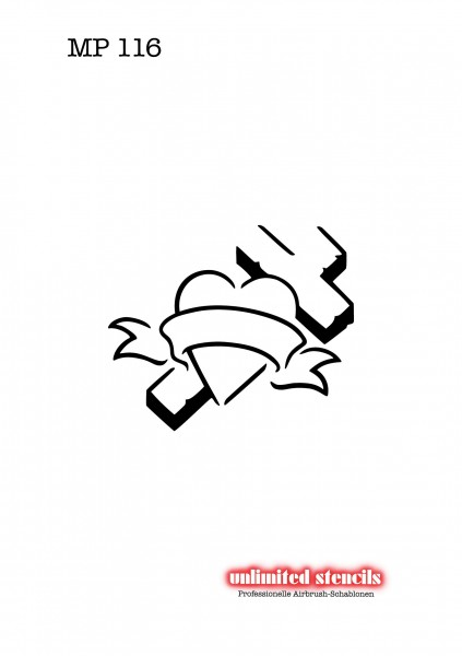 Mylar Airbrush Tattoo / Bodypainting Schablone MP116