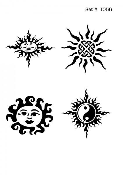 UNLIMITED STENCILS 4 selbstklebende DURA-LAR Airbrush Tattoo-Schablonen D1056
