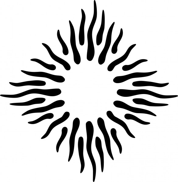 Selbstklebende Schablone für Glitzer-Tattoos oder für Airbrush-Tattoo TRIBAL SUN SP140