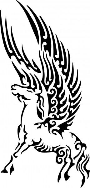 Selbstklebende Schablone für Glitzer-Tattoos oder für Airbrush PEGASUS SP133