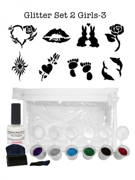 "Glitzer-Tattoo-Set ""for girls"" G2G3"
