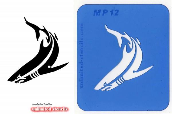 Mylar Airbrush Tattoo / Bodypainting Schablone HAI MP12