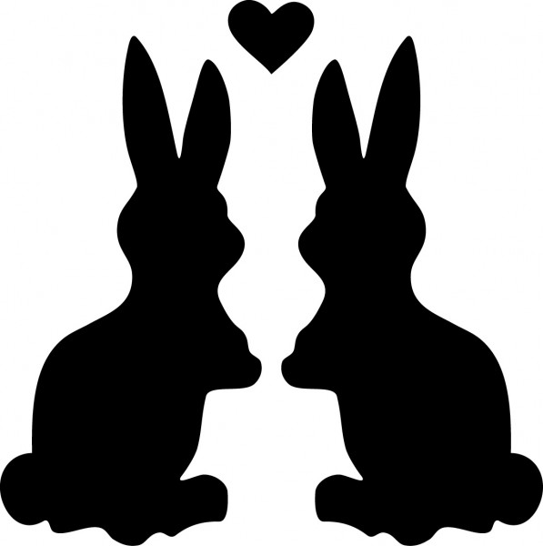 Selbstklebende Schablone für Glitzer-Tattoos oder für Airbrush-Tattoo Bunny, Häschen SP105
